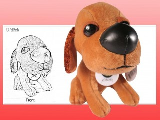 Fit in a Container - Dog Plush