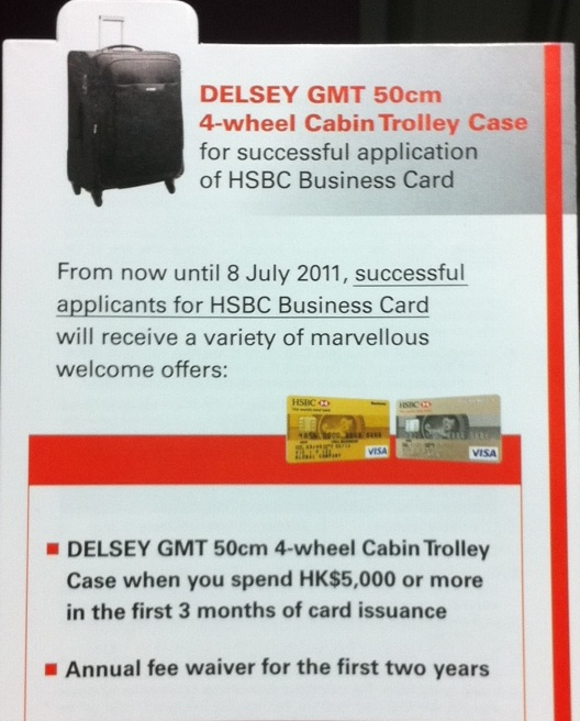 Trolley bag HSBC Giveaway