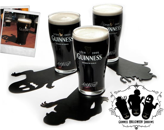 Halloween Promos: Guinness Shadow Coasters