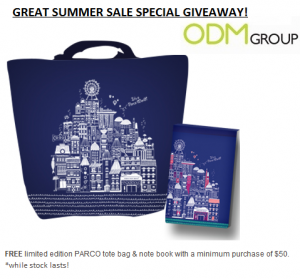 Parco GWP Tote Bag Notebook 300x279 Parco GWP   Tote Bag & Notebook