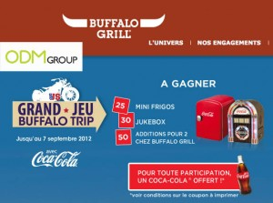 Promotional Gift France Buffalo Grill Coca Cola Fridge Jukebox 300x223 Promotional Gift France   Buffalo Grill Coca Cola Fridge Jukebox