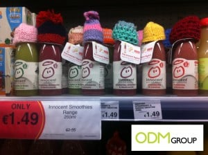 Gift with Purchase by Innocent Drinks – Promotional Bottle Necks