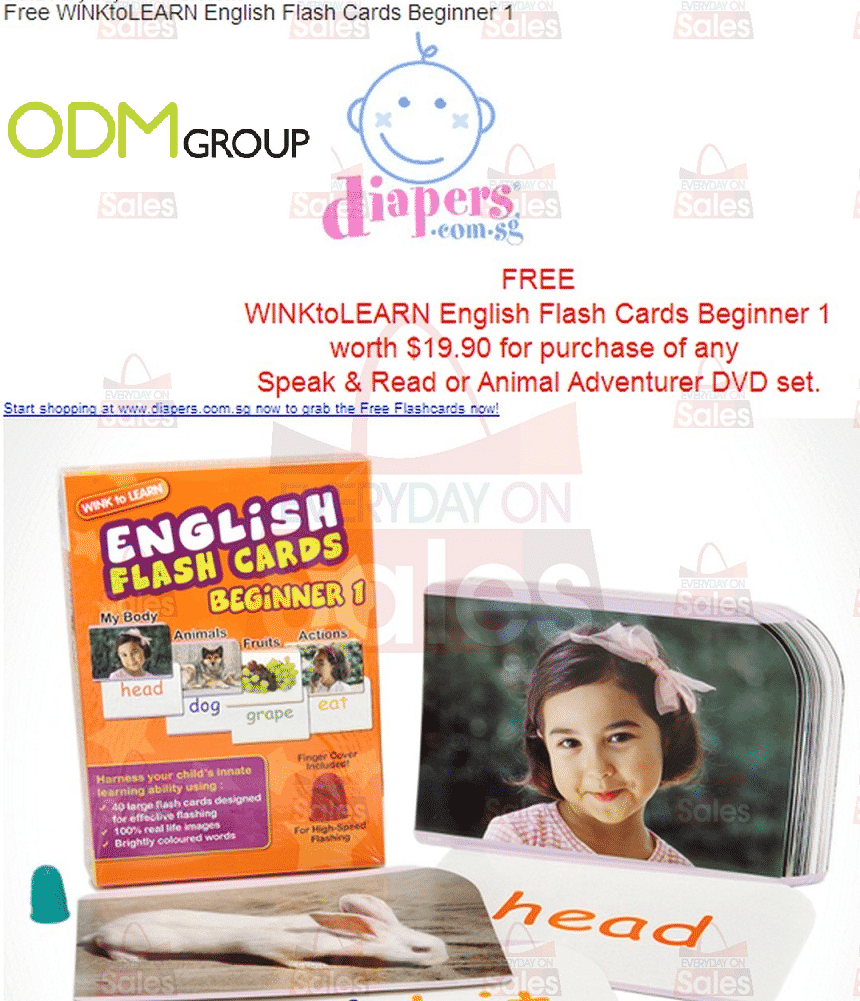 Marketing Gift by Diapers.com.sg - Flash Cards