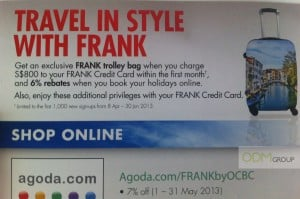 Travel With OCBC FRANK's Stylish Trolley Bag Giveaway!