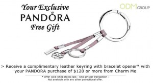 Custom High End Stylish Leather Keyring by Pandora
