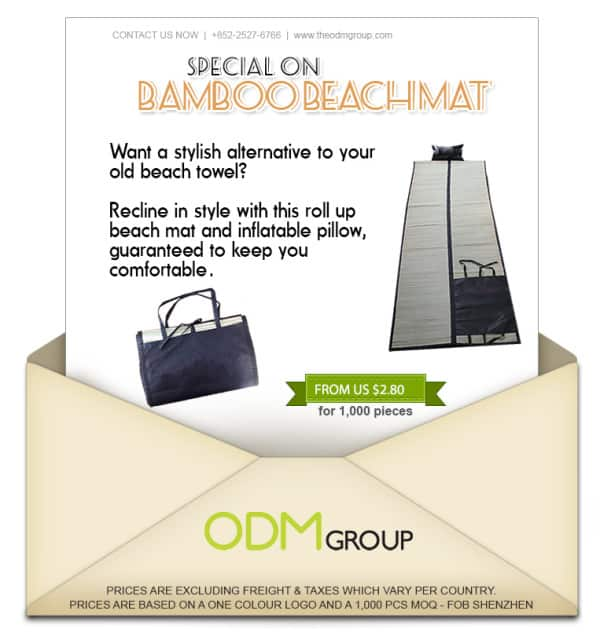 Summer Special Offer Promo - Bamboo Beach Mat