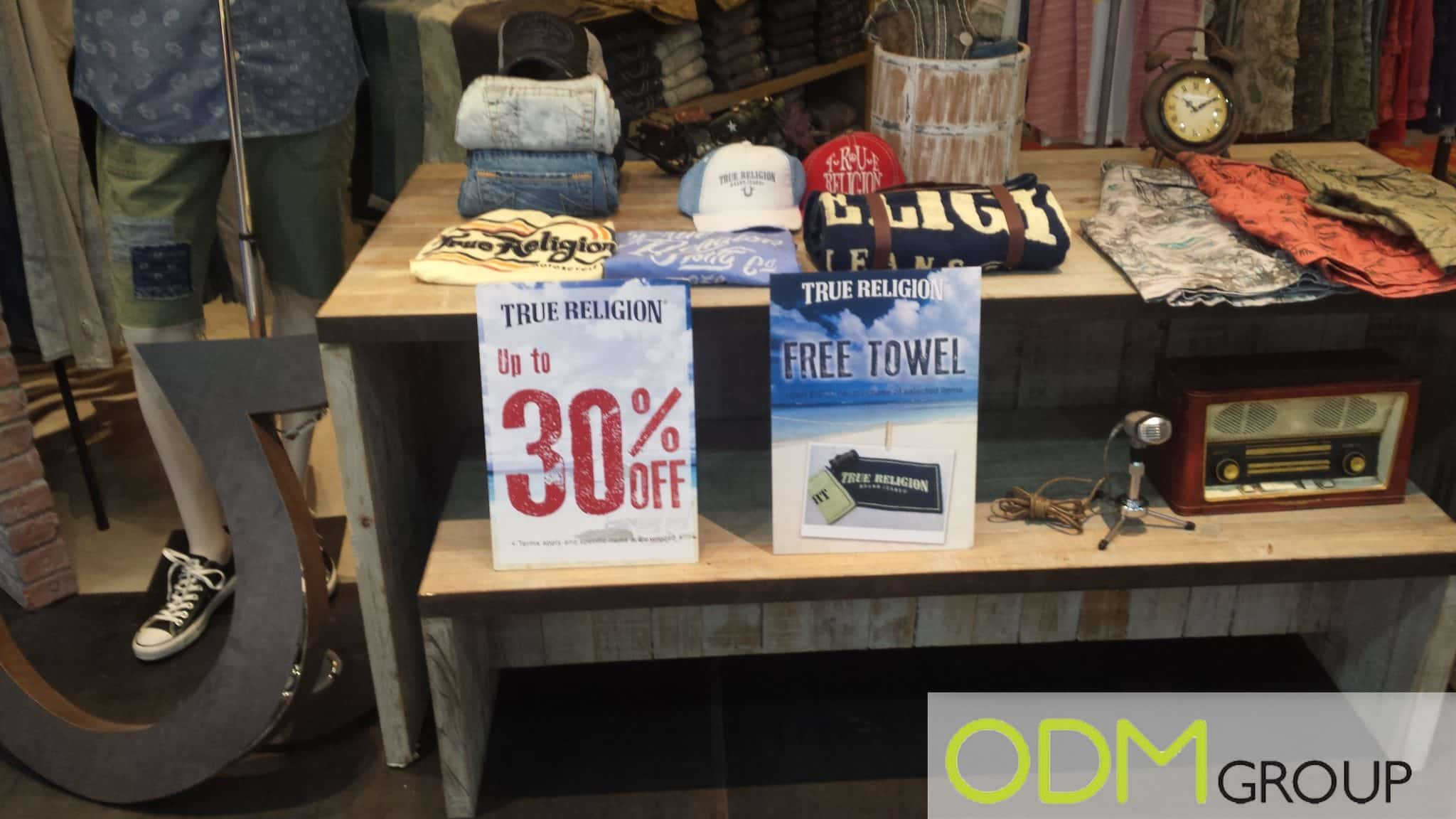 POS display by True religion