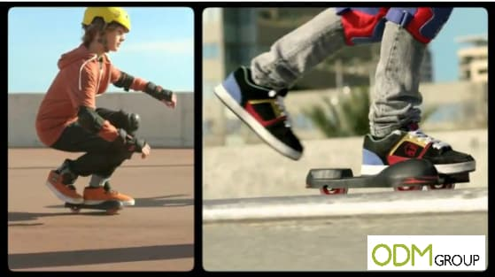 Promotional skate as an on pack promotion by Cola Cao