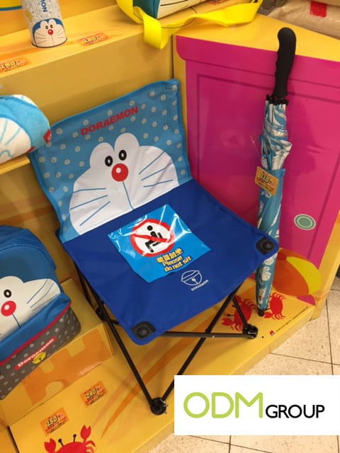 Doraemon Beach chair & umbrella