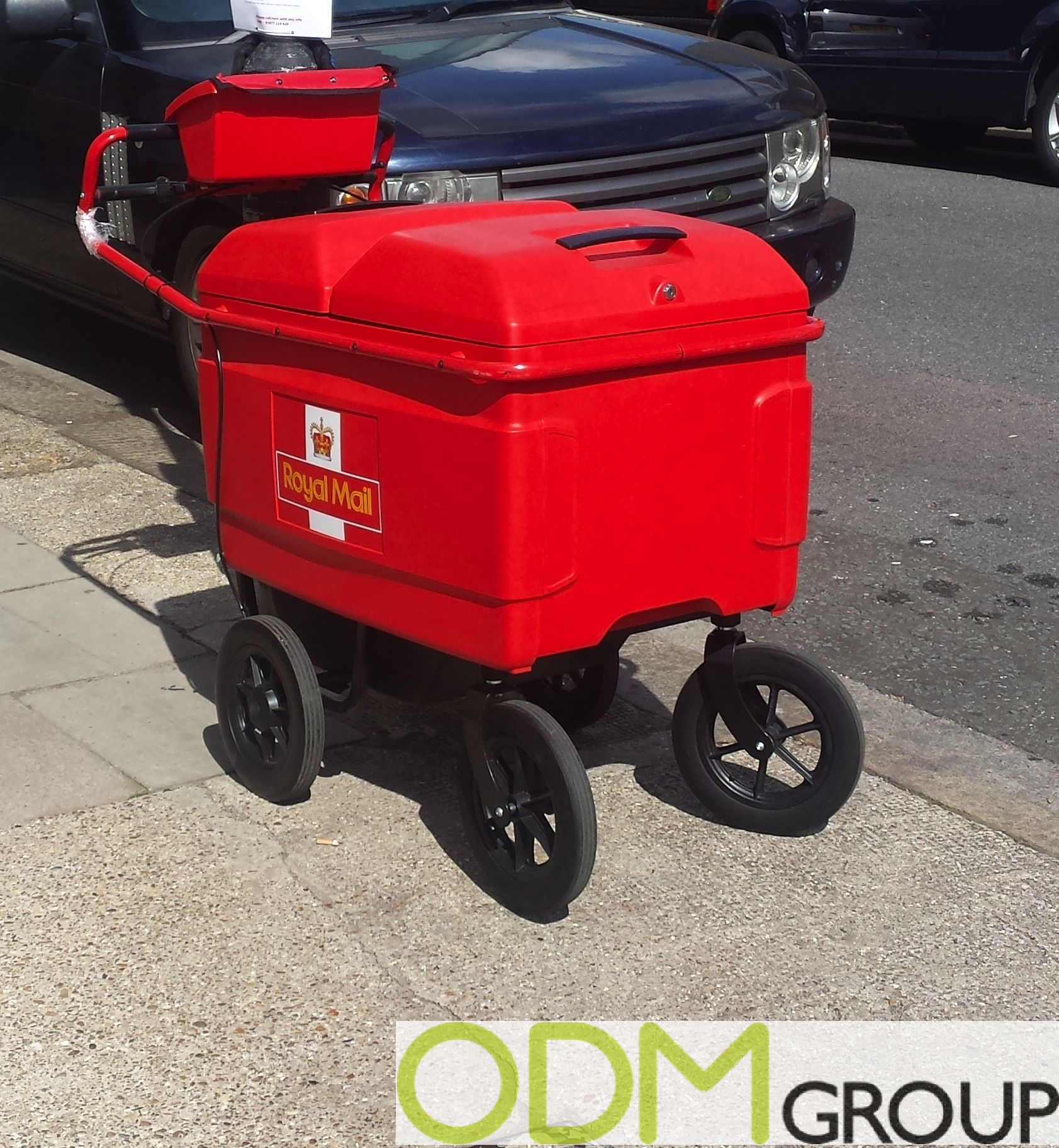 ye Catching Branded Cart by Royal Mail