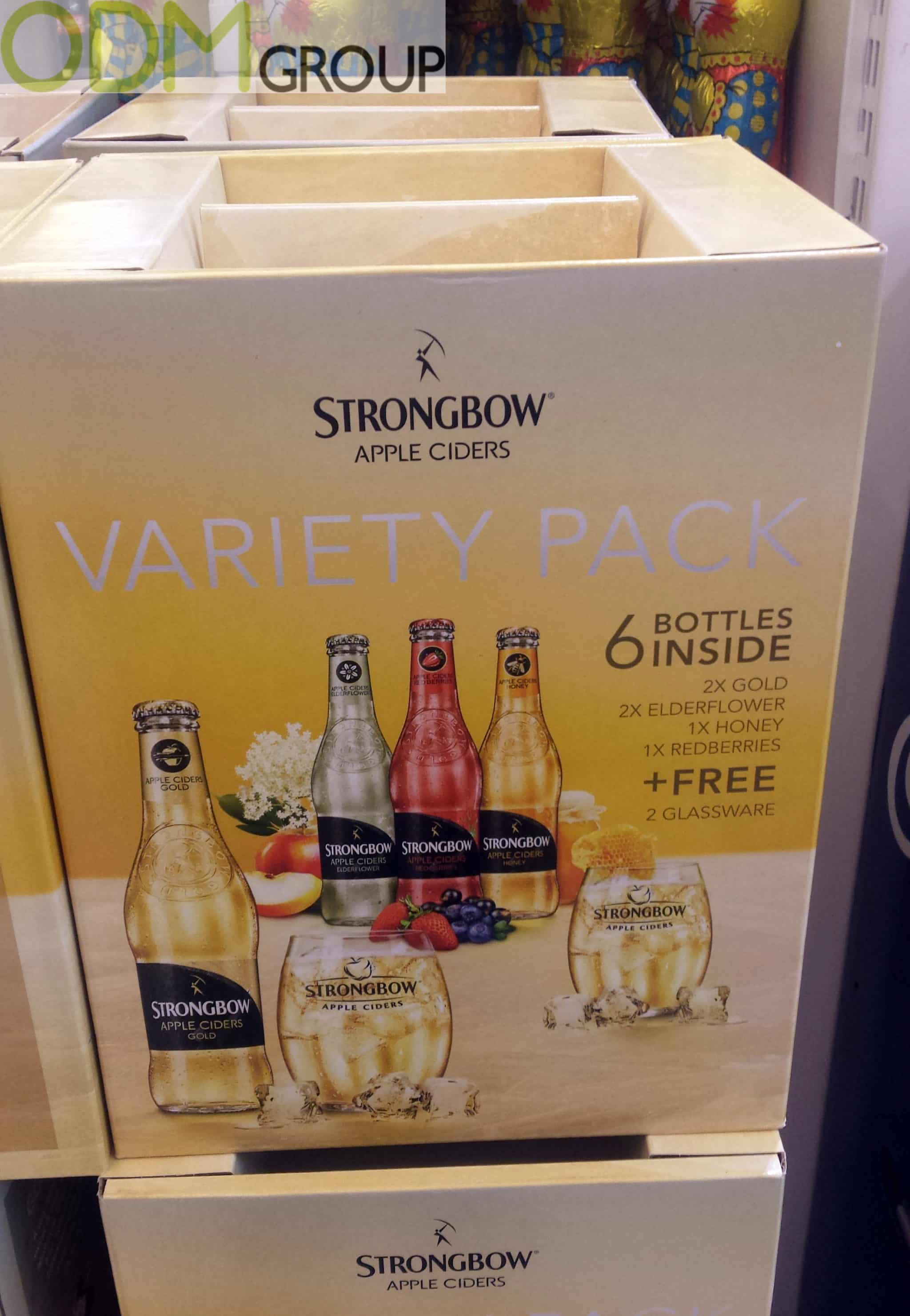 Alcohol promotion - Free Strongbow Glass With Purchase