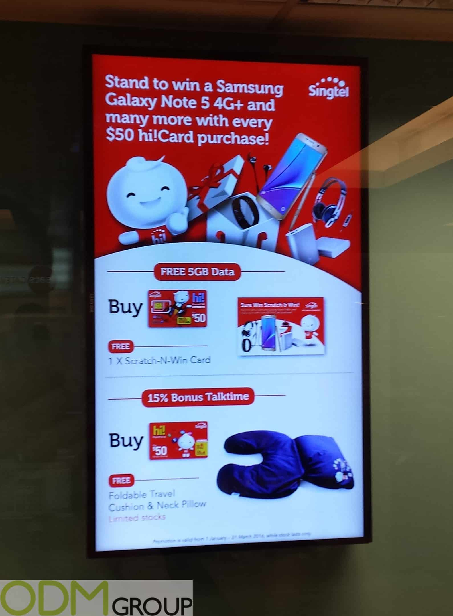 Promotional Travel Accessories with Singtel