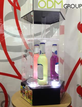 In Store Marketing Idea for Drinks - LED Rotation Displays