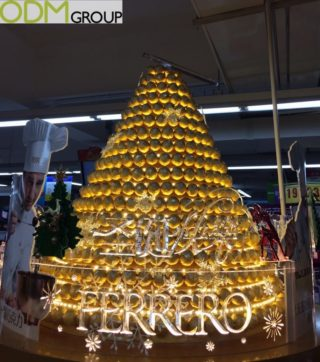 Unique Festive POS Display by Ferrero Rocher