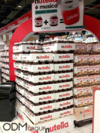 Nutella Speakers- A Loud Gift with Purchase Promotion