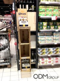 Wooden Beer POS Displays in Italy