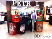 In store POS Display for Clothing lines by Petrol in Philippines