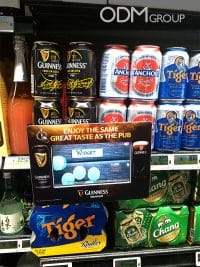 Video Advertising Display - Custom Frame for Guinness Singapore