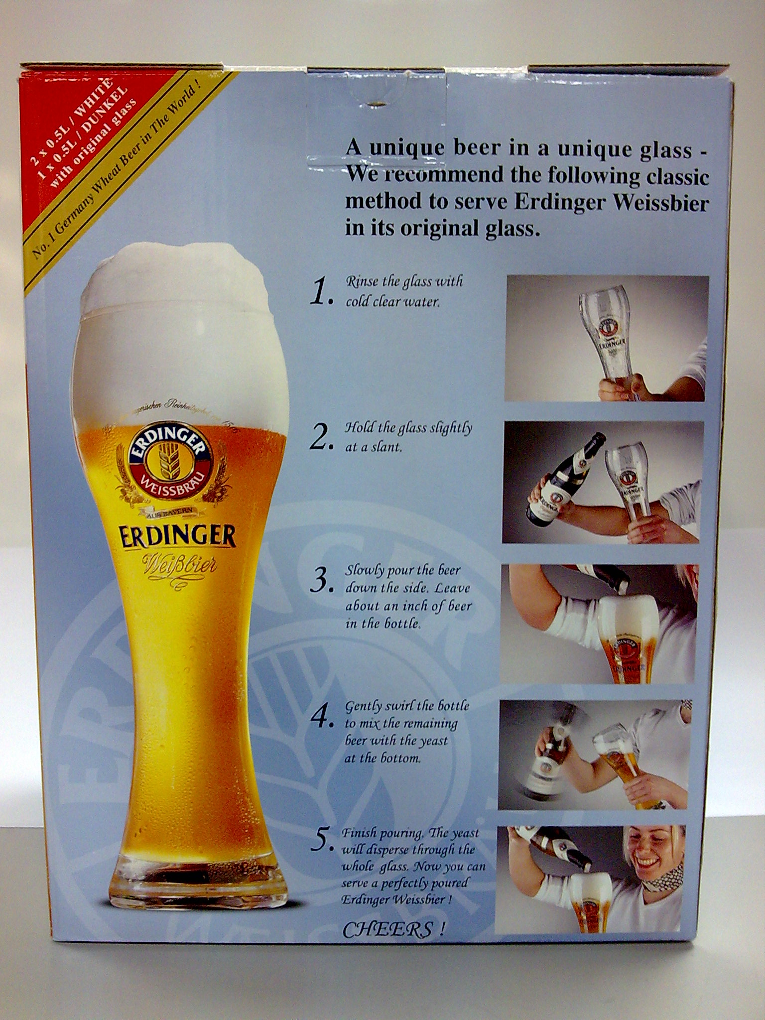Erdinger Classic Beer Serving Method