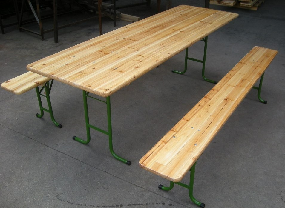 The Table And Benches Are Collapsible And Stackable Without Friction  Through Cleats. Available In 2 Sizes, The Beer Table And Bench Can  Accommodate Up To 8 ...