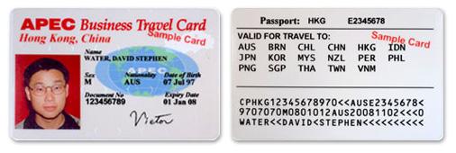 APEC Card for Visa free travel.