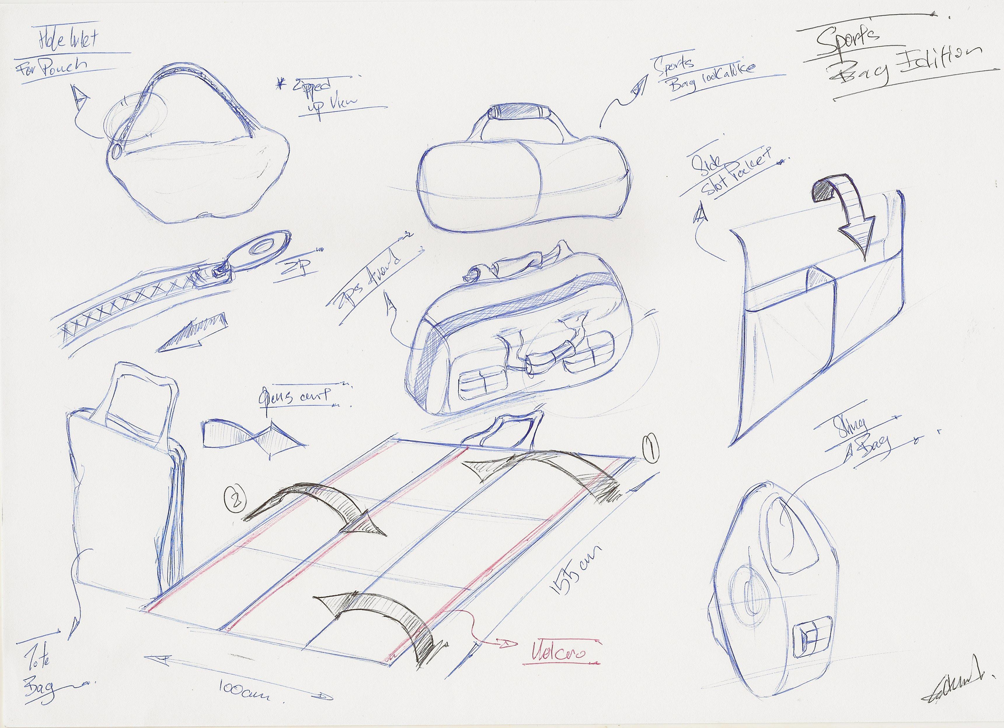 Concept Development Stage - Sketching the Sarobag