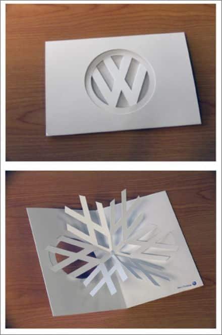 Volkswagen Branded Pop Up Christmas Card