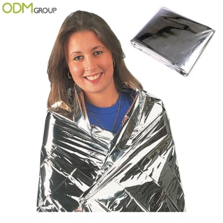 Promotional foil blanket