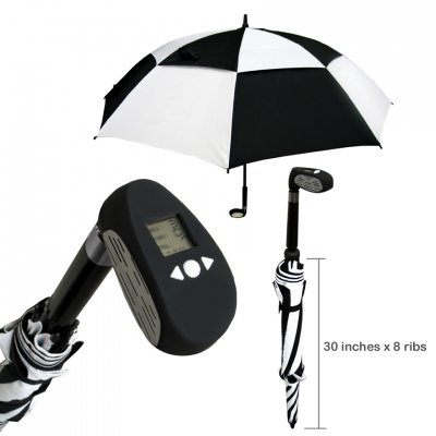 golf counter umbrella zebra eco carbon fibre