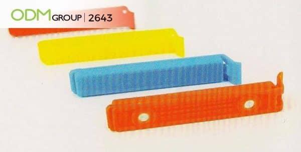 Promotional bag clips - Magnetic sticks to fridge.