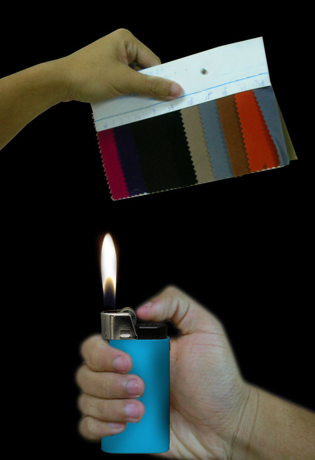 fabric burn test swatches