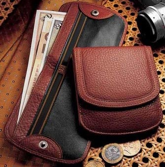 High end promotional wallets