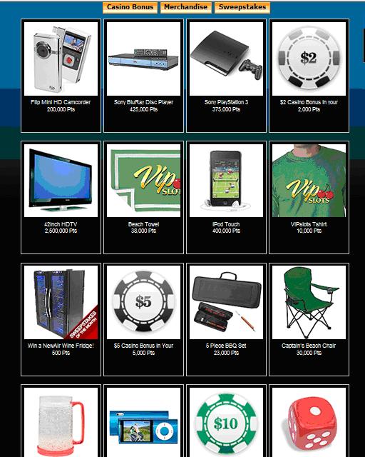 Casino themed promo items