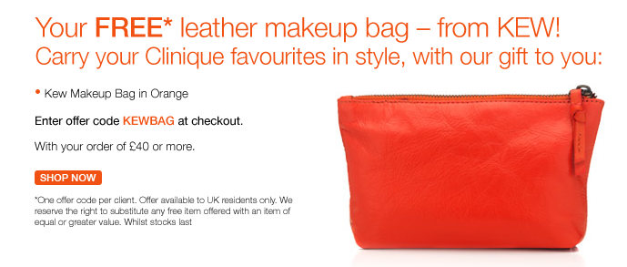 Clinique Luxurious Leather Bag Promo Gift