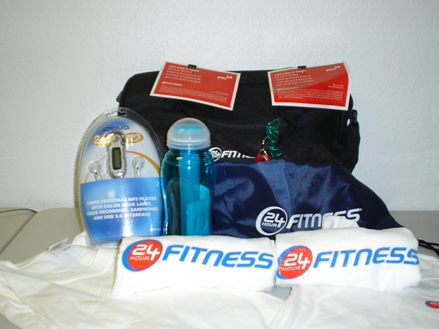 Promotional Merchandise With Sign Up: 24 Hour Fitness