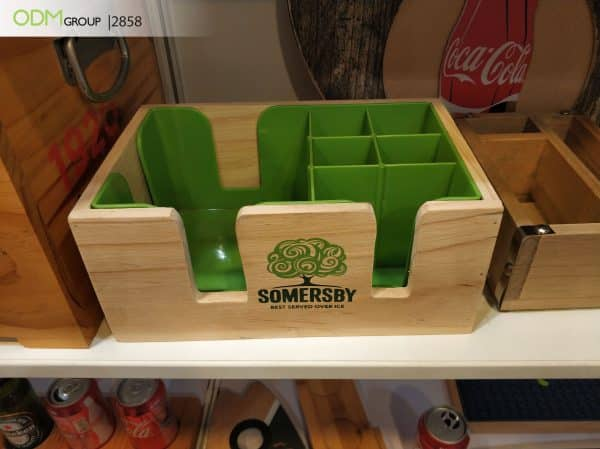 Wood Caddy for Beverage Companies