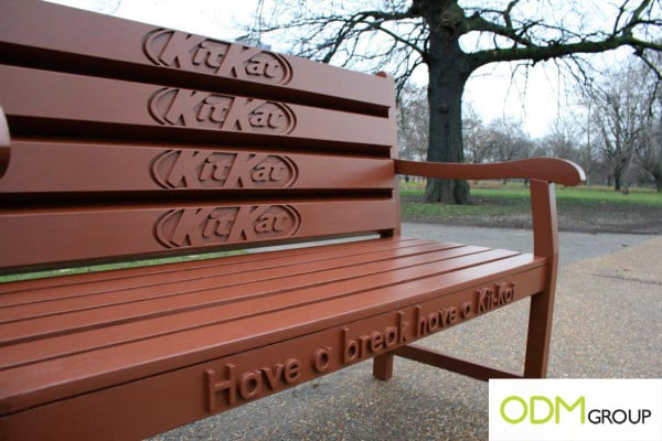 Outdoor Advertising Promotions - KitKat Bench