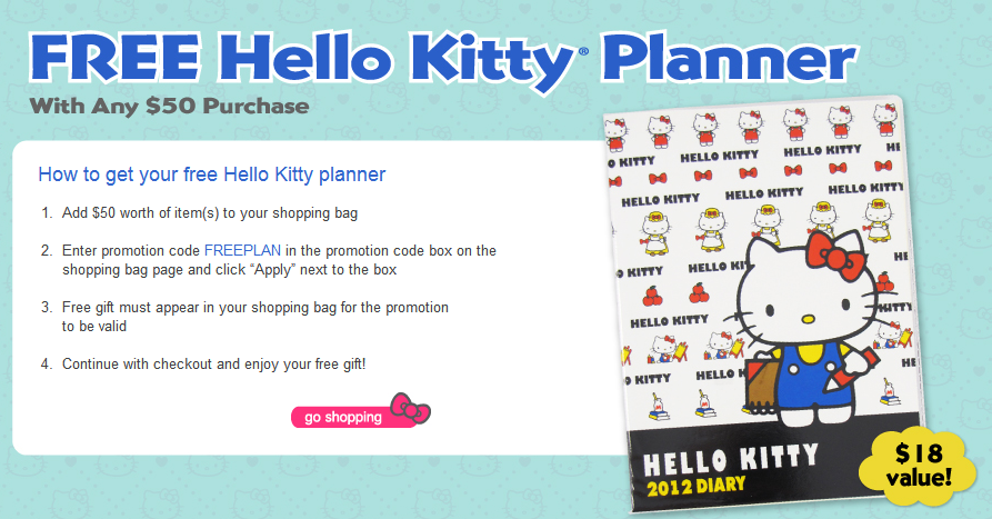GWP Promo Hello Kitty Planner By Sanrio TheODMGroup Blog - Promo calendar template