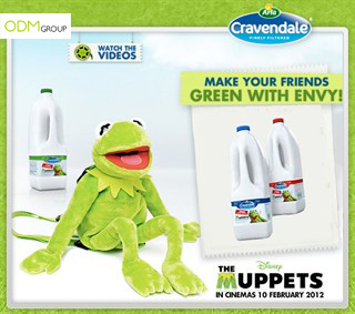 Cravendale and The Muppets - Kermit Backpack for Dairy Marketing