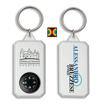 Promotional Items France  - Compass Keyring by Omnipub