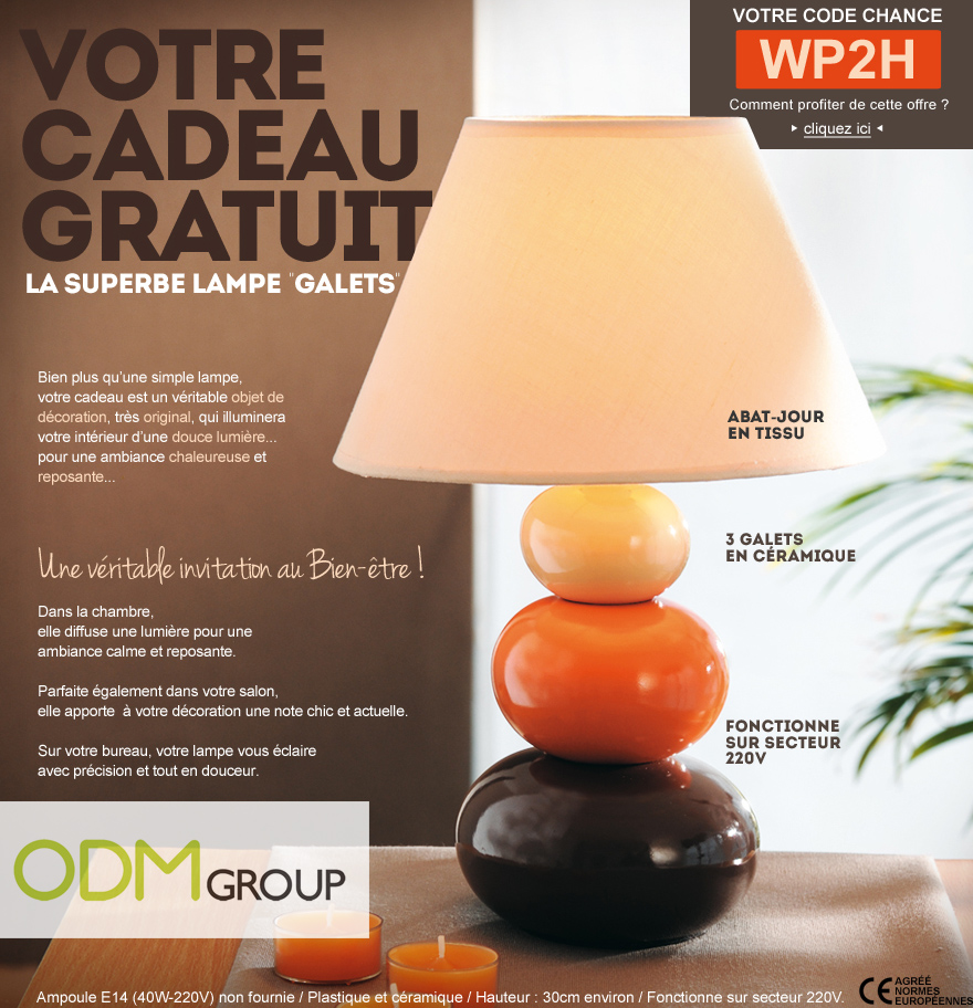 Incentive Product France - Free Lamp by Afibel