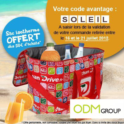 Incentive Product France - Isotherm bag by Auchan Drive
