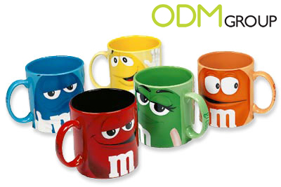 porcelain promotional product m m s super graphics character mugs