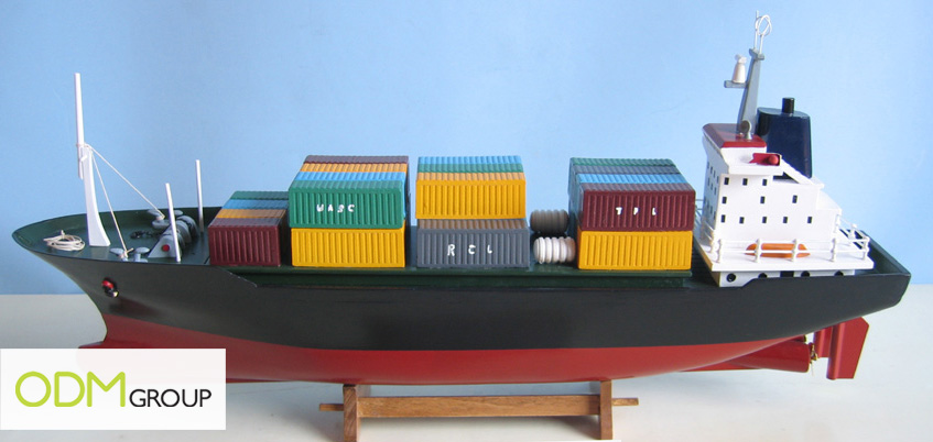 Small sized promotional container ship