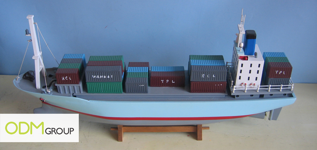 Medium promotional container ship
