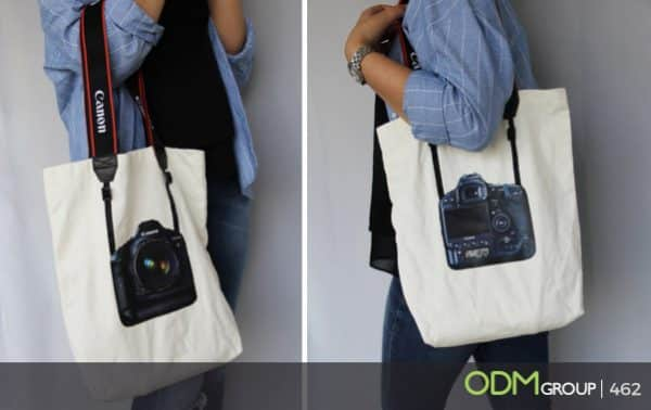 Camera Tote Bag - A unique and stylish promotional idea