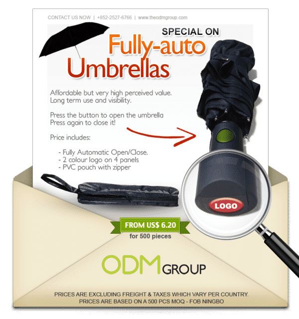 custom umbrella special offer