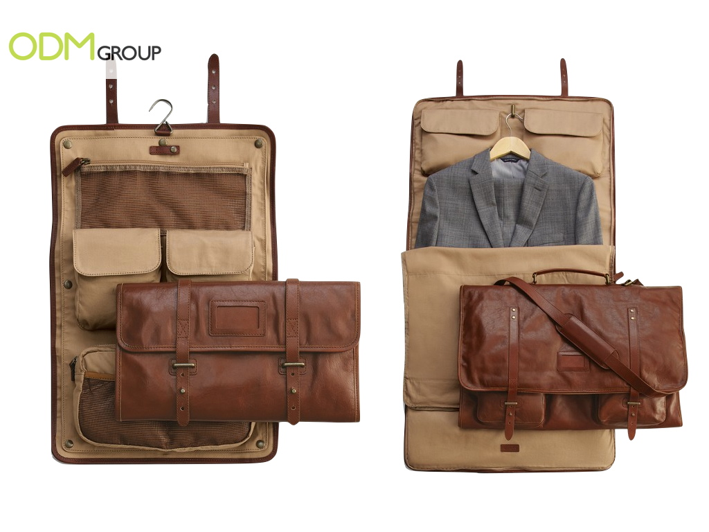 Branded Leather Excursion Garment Bag As Corporate Gift