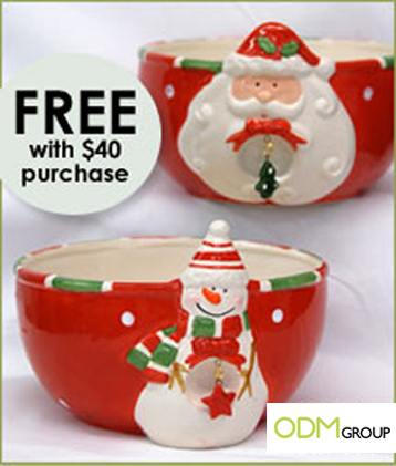 Christmas Bowls Gift with Purchase