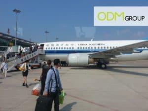 International Flight to China Factory Visit